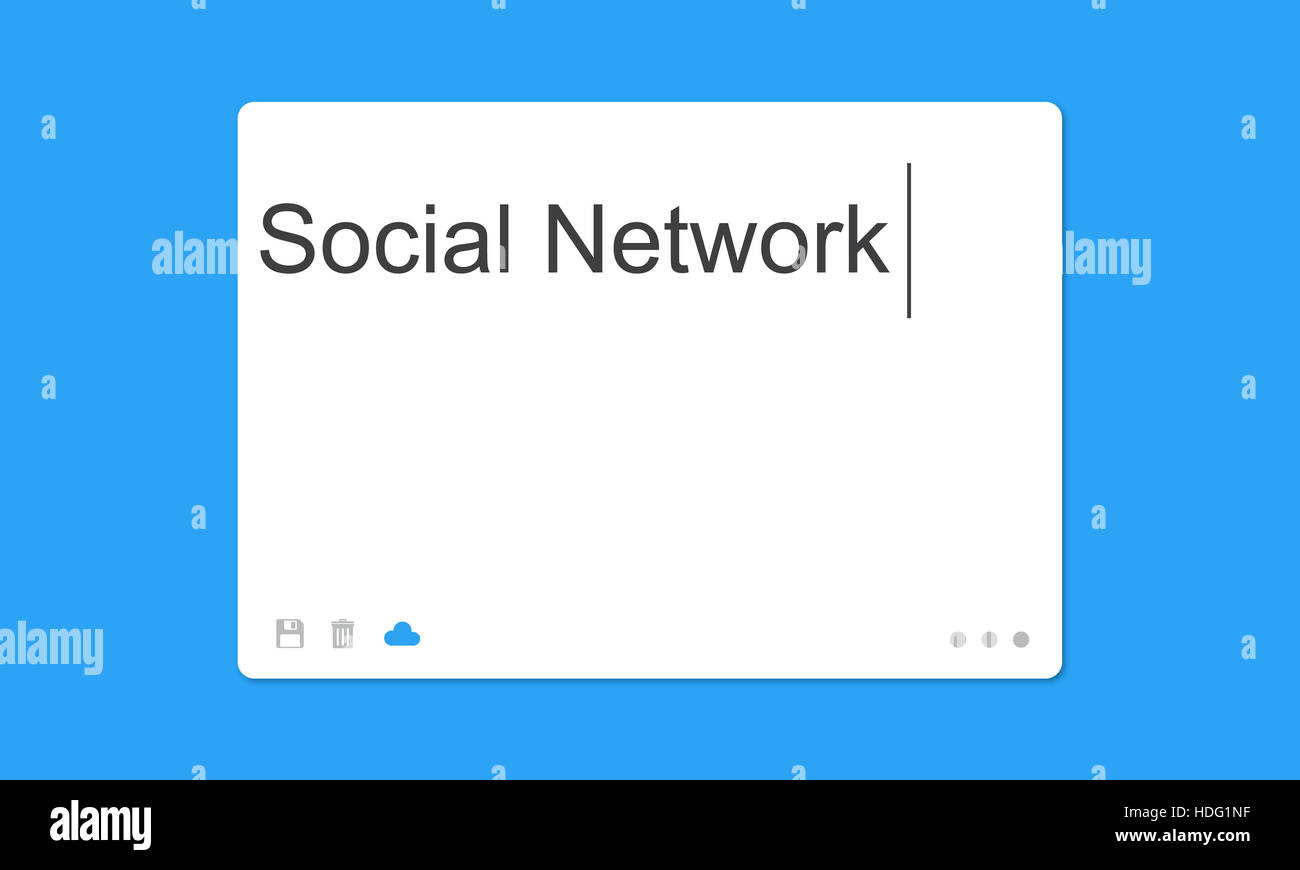 Social Network SMS Window Communication Concept - Stock Image