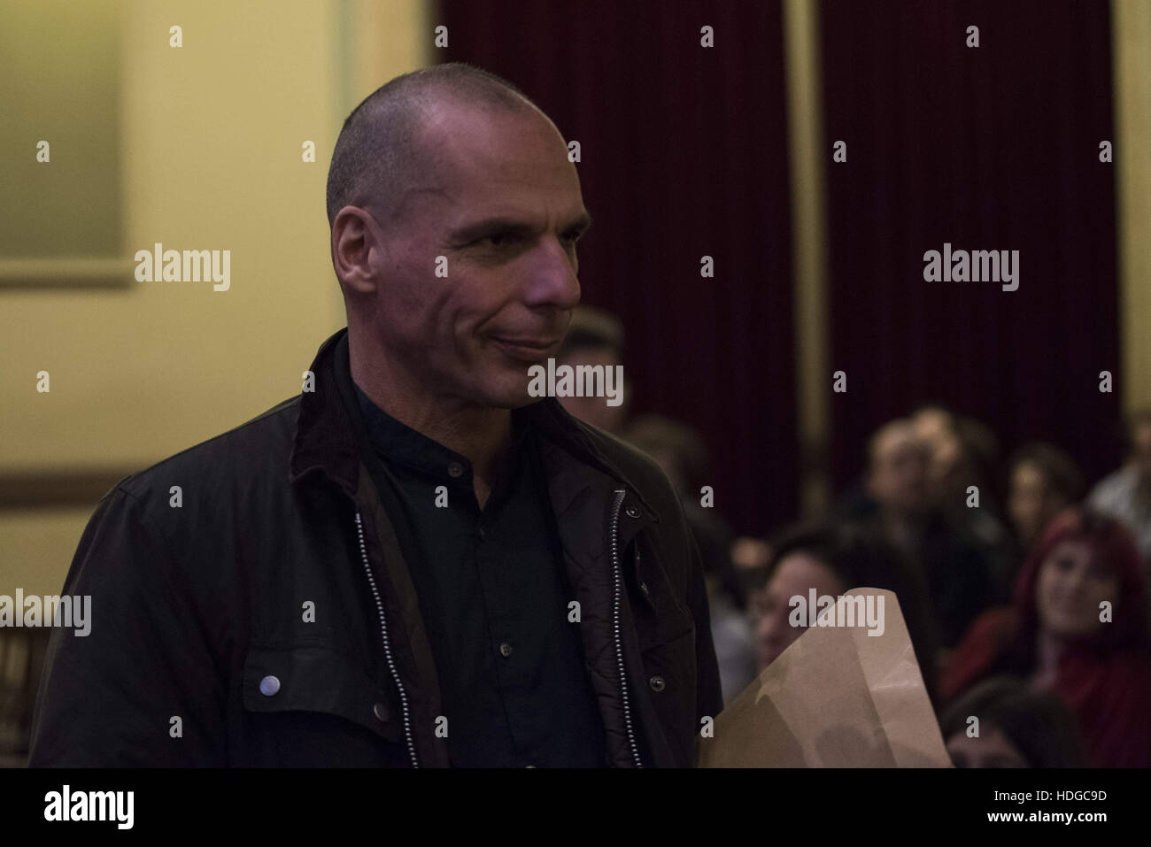 Athens, Greece. 12th Dec, 2016. YIANIS VAROUFAKIS during the presentation of his new book. Renowned Greek economist, - Stock Image