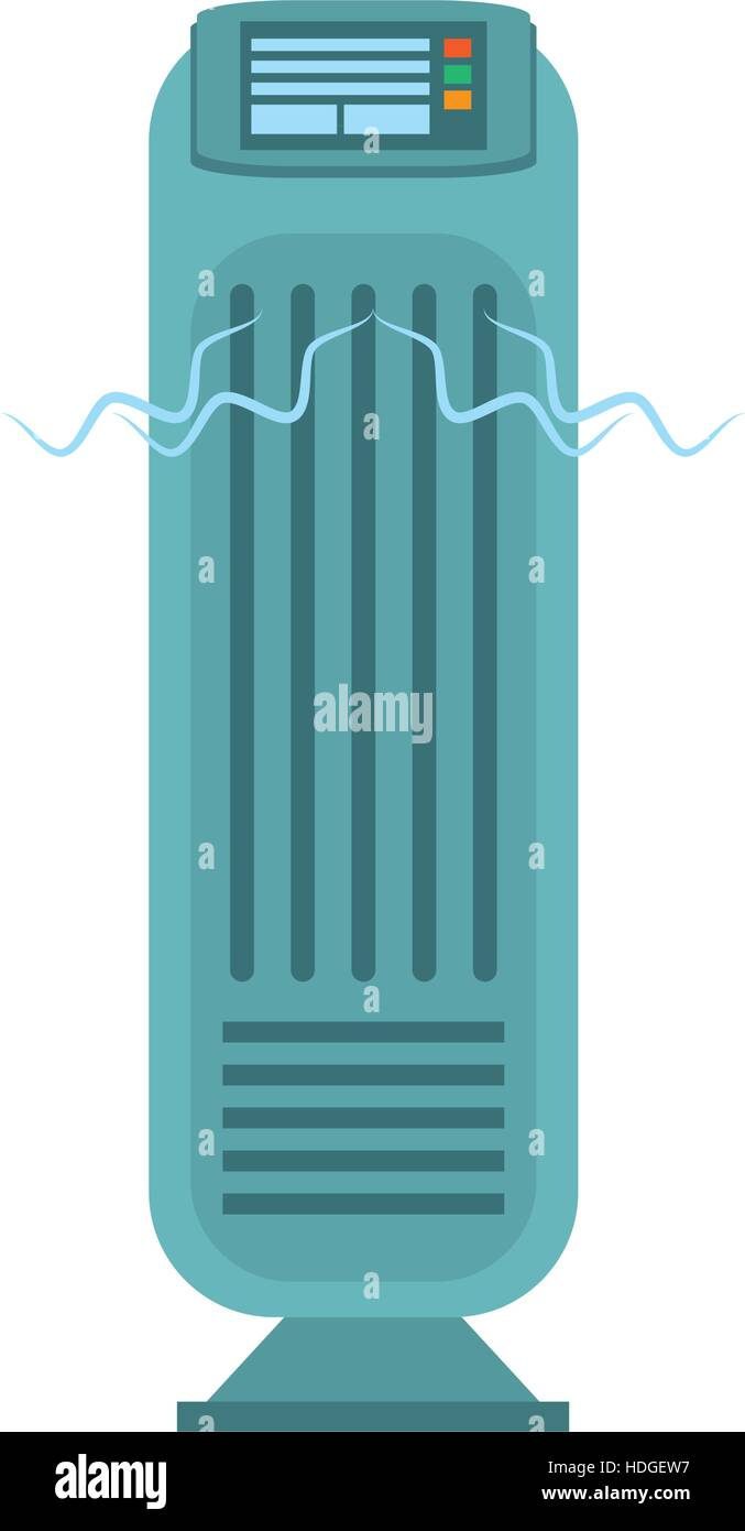 tower fan room house appliance vector illustration eps 10 - Stock Vector