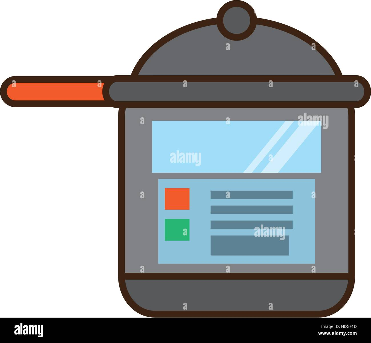 cartoon rice cooker kitchen cookware vector illustration eps 10 Stock Vector