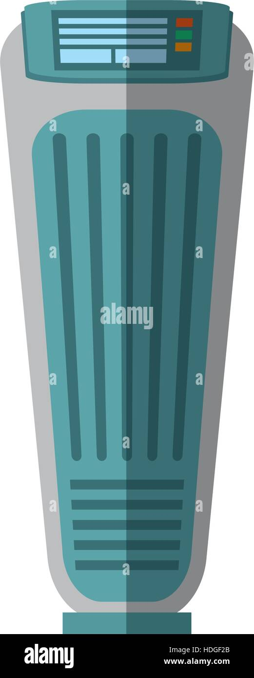 tower fan room house appliance shadow vector illustration eps 10 - Stock Vector