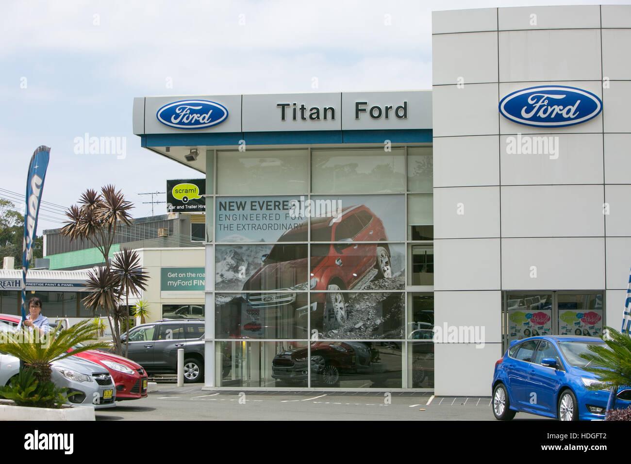 Ford Motor Car Dealership In North Sydney New South Wales Australia