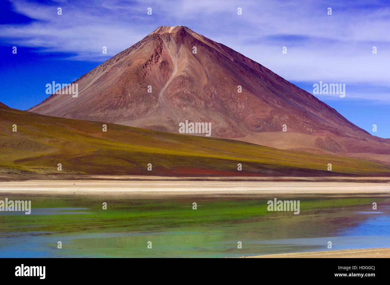 Laguna Verde in Bolivia - Stock Image
