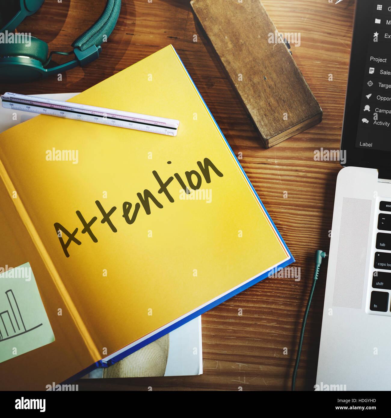 Attention Urgent Planner Agenda Concept Stock Photo