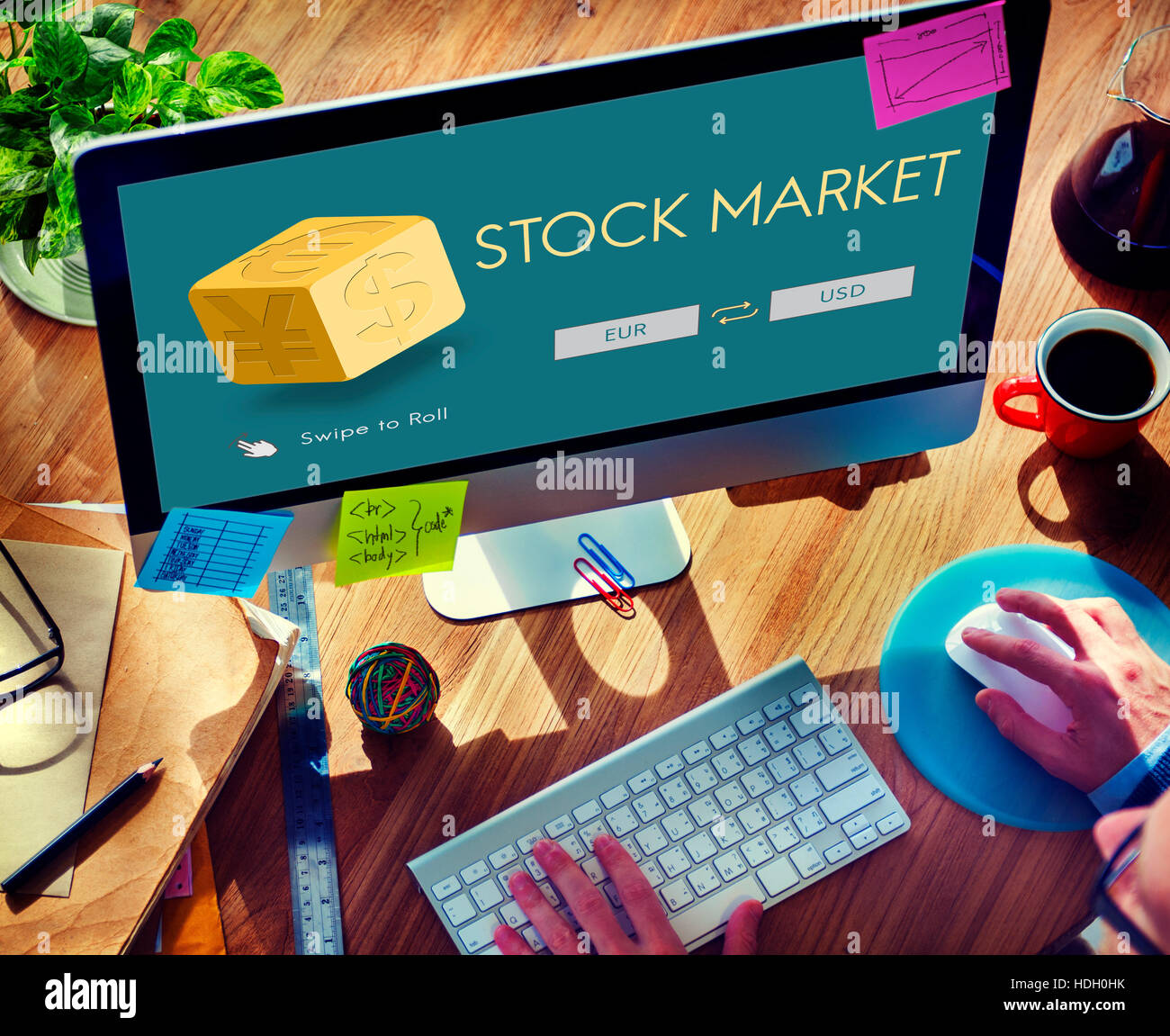 Currency Exchange Stock Market Financial Graphic Concept Stock Photo