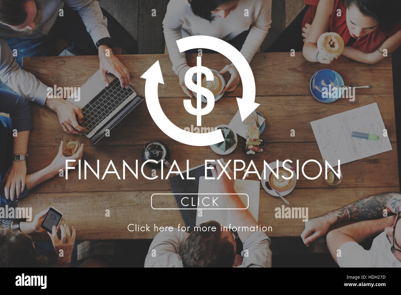 Financial Expansion Business Cycle Economy Concept - Stock Image
