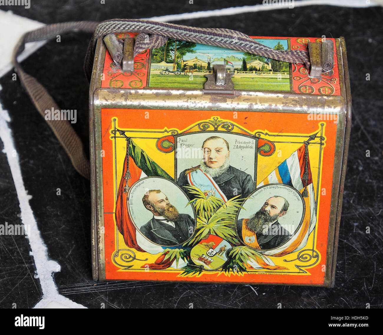 Paul Kruger Predident d'Z A Republiek tin, museum of Yvette Dardenne pic1 - Stock Image