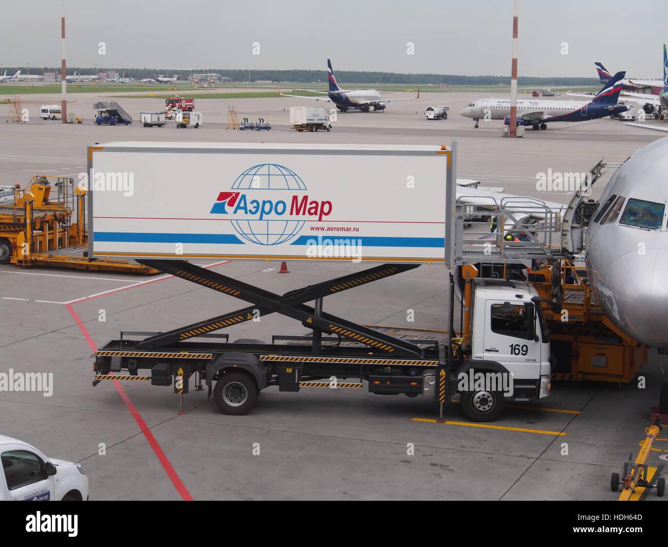 Supply vehicle at Sheremetyevo International Airport pic1 - Stock Image
