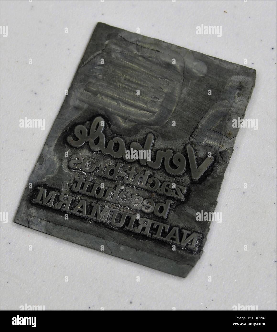 Verkade stempel - Stock Image