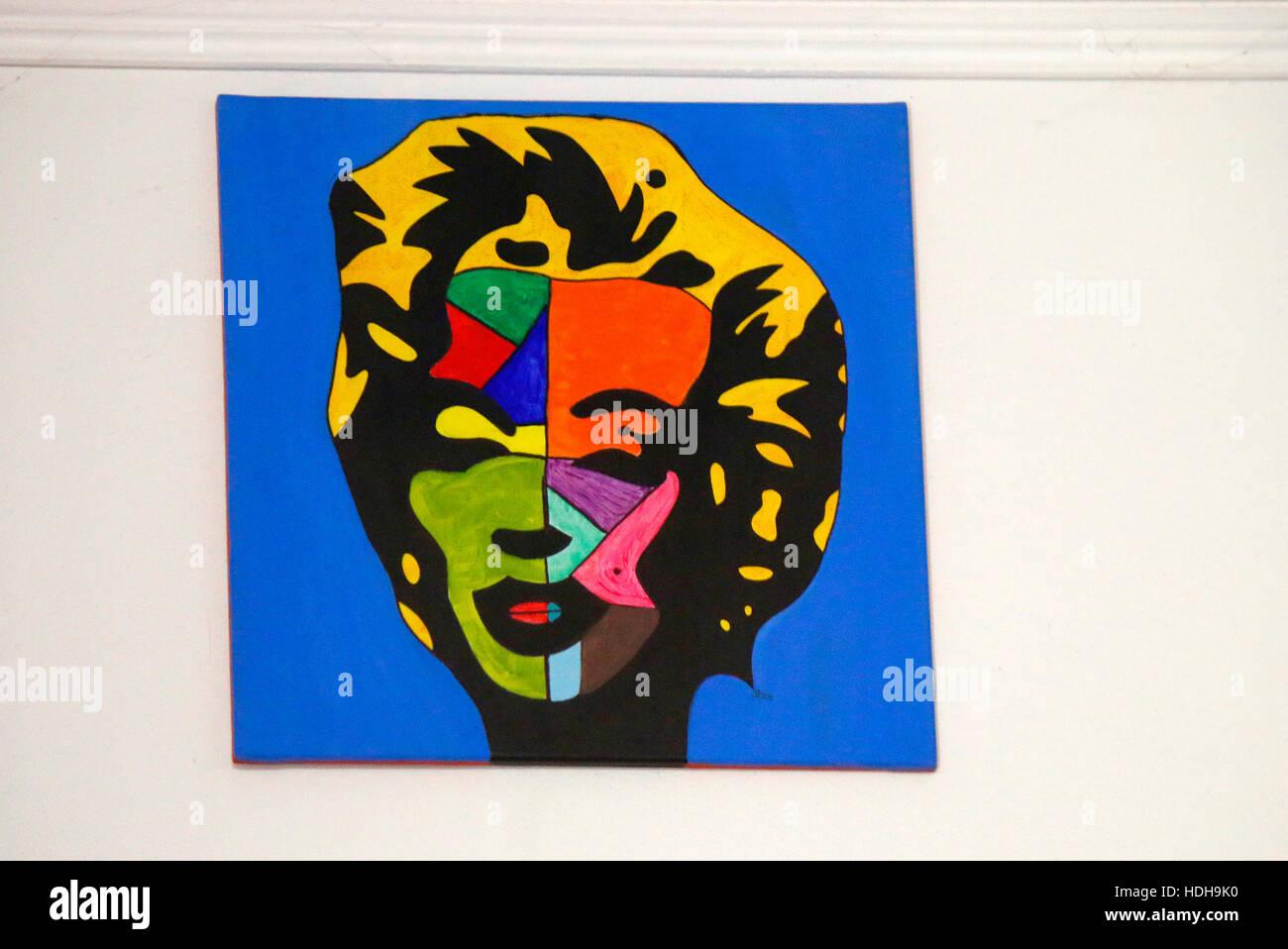 ein Pop-Art-Gemaelde von Marilyn Monroe, Berlin. - Stock Image
