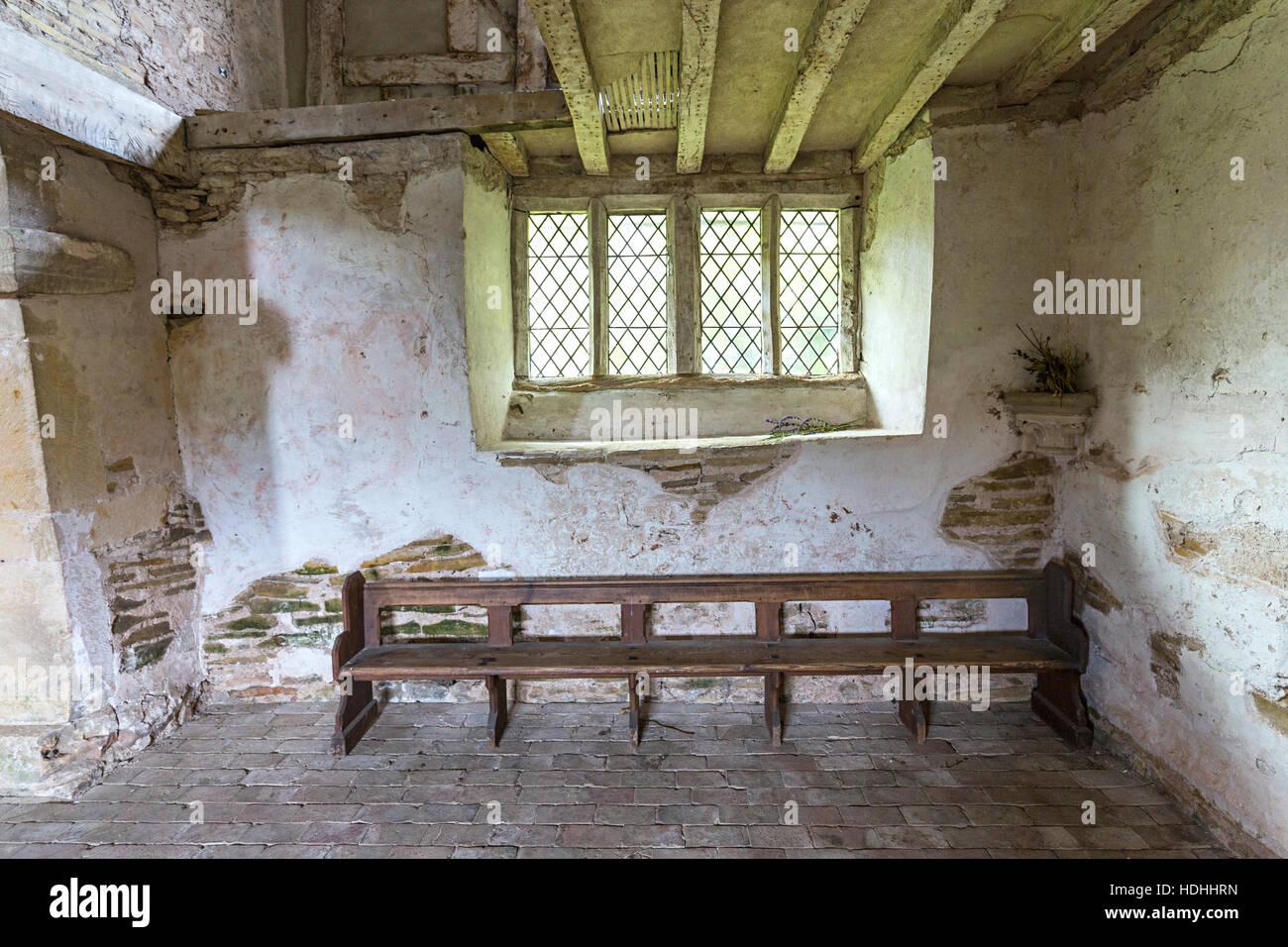 Odda's Chapel, a Saxon church, Deerhurst, Gloucestershire, UK - Stock Image
