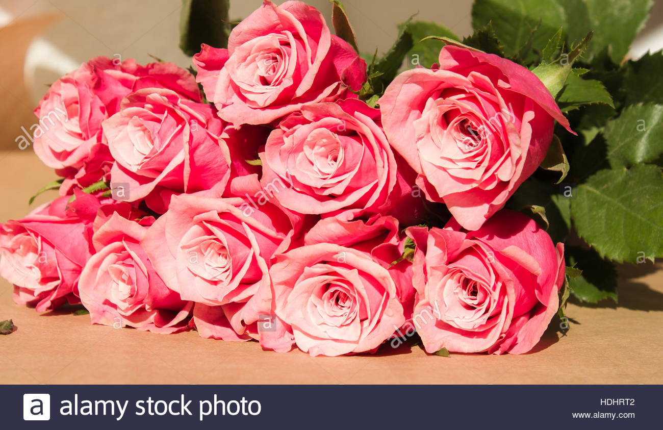 A Bouquet Of Roses Bunch Of Flowers Beautiful Bouquet Flowers Stock