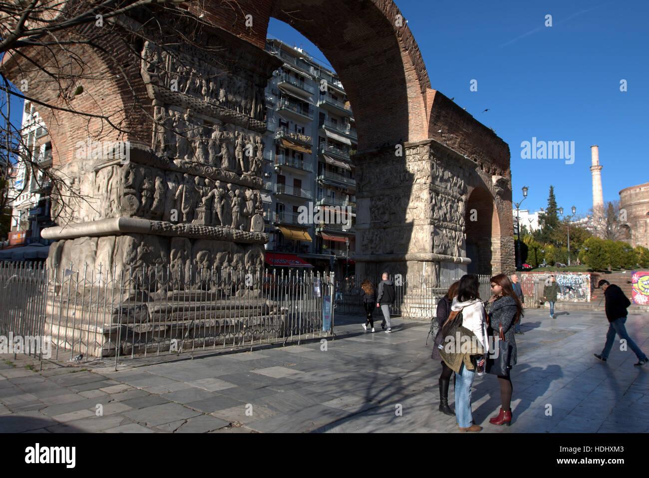 A sreet scene in Thessaloniki, Greece. - Stock Image