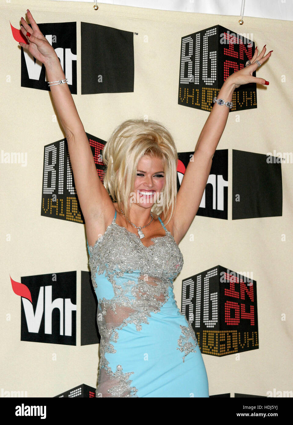 Anna Nicole Smith backstage at the VH-1 'Big in 04'  taping at the Shrine Auditorium in Los Angeles, California - Stock Image