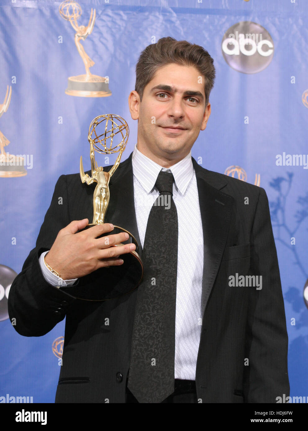 Actor Michael Imperioli poses with his Emmy  for outstanding supporting actor in a drama series for his role in - Stock Image