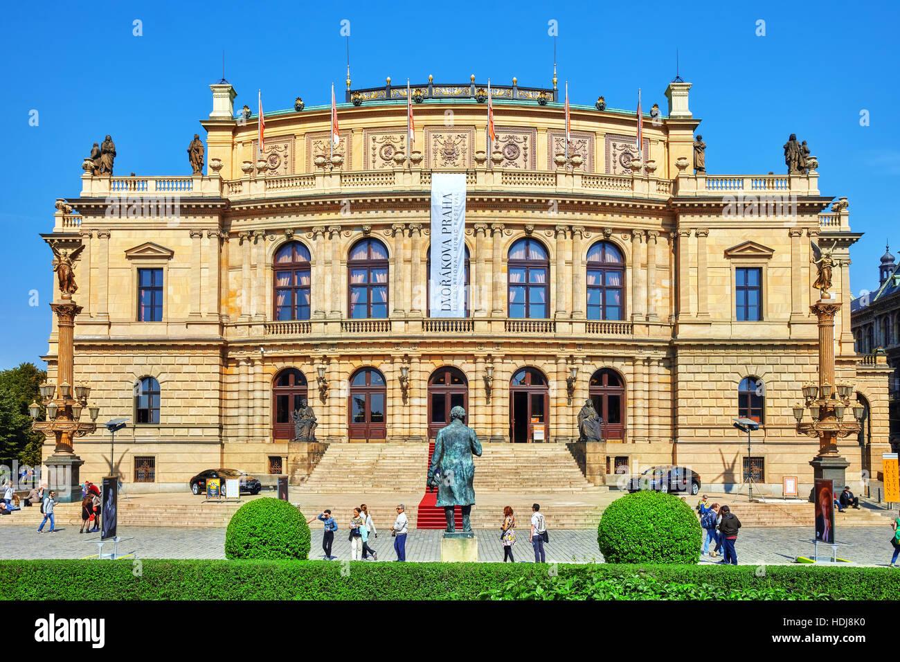 PRAGUE, CZECH REPUBLIC-SEPTEMBER 12, 2015: Building of the National Opera of Prague and the Czech Republic.Czech Stock Photo