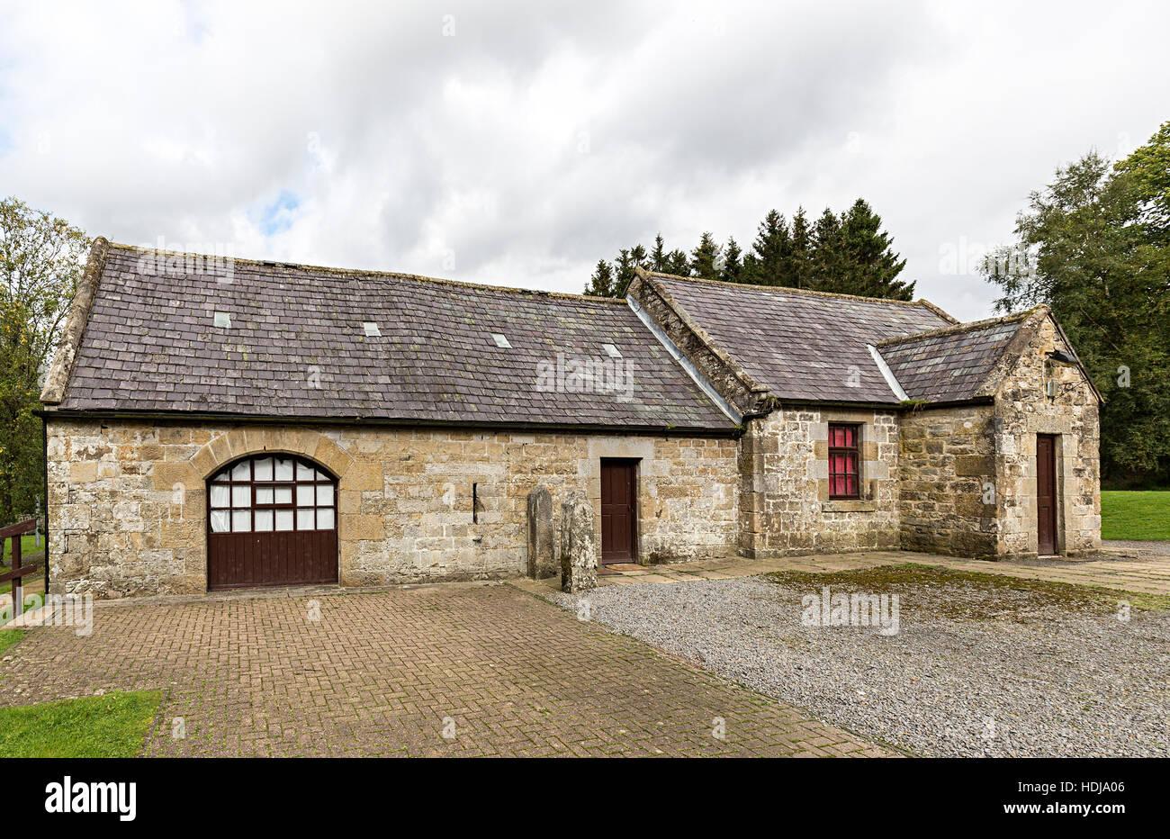 Otterstone Lee Farm, farmstead building at Kielder reservoir, Northumberland, England, UK - Stock Image