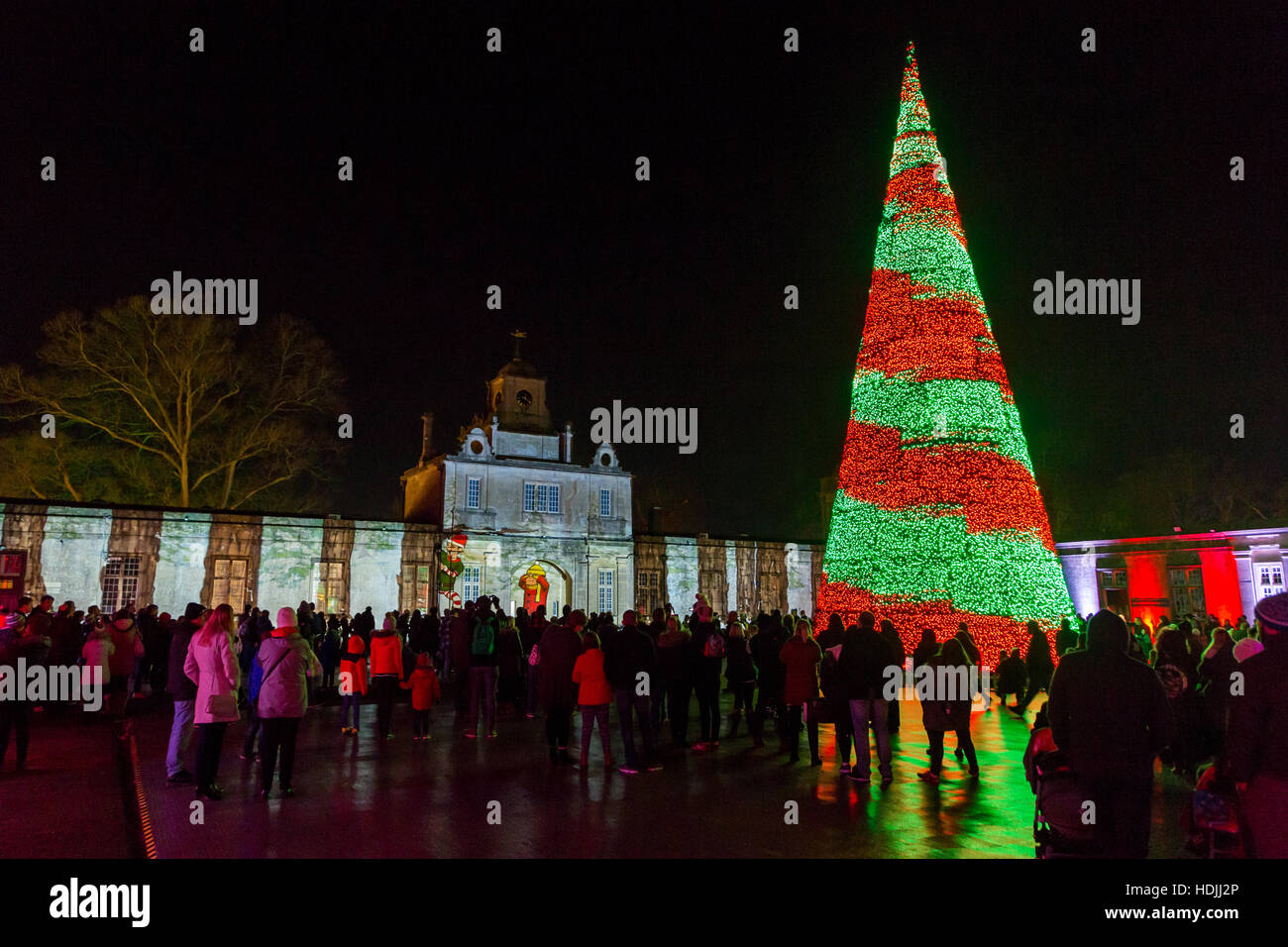longleat festival of light singing christmas tree light show stock image - Singing Christmas Tree Lights