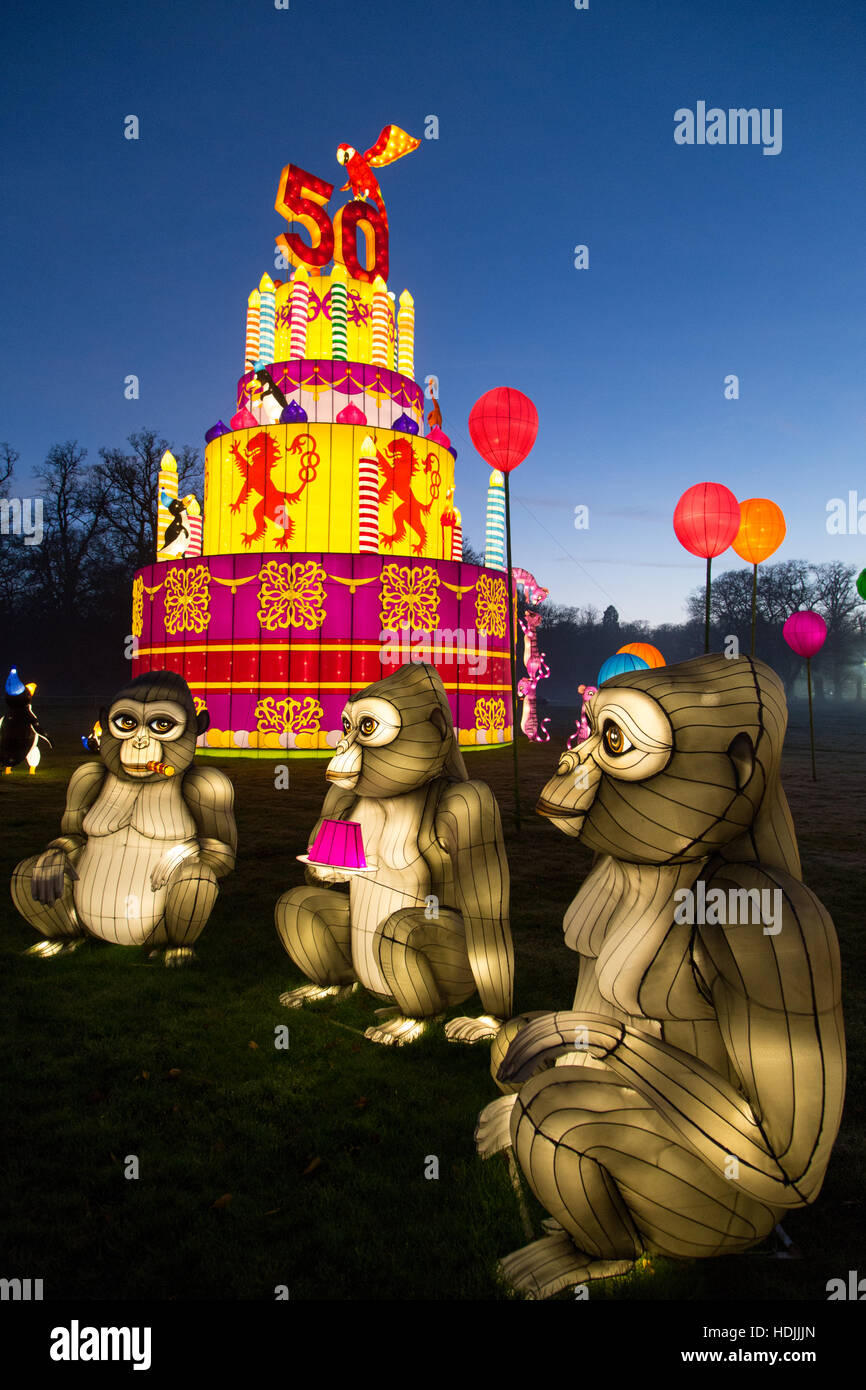 Longleat Festival of Light Stock Photo