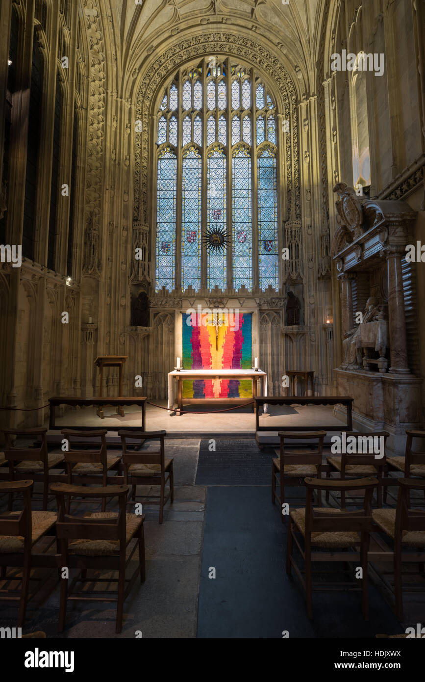 Chapel of Our Lady of martyrdom and St Benedict at Canterbury cathedral, England, founded in the sixth century, - Stock Image