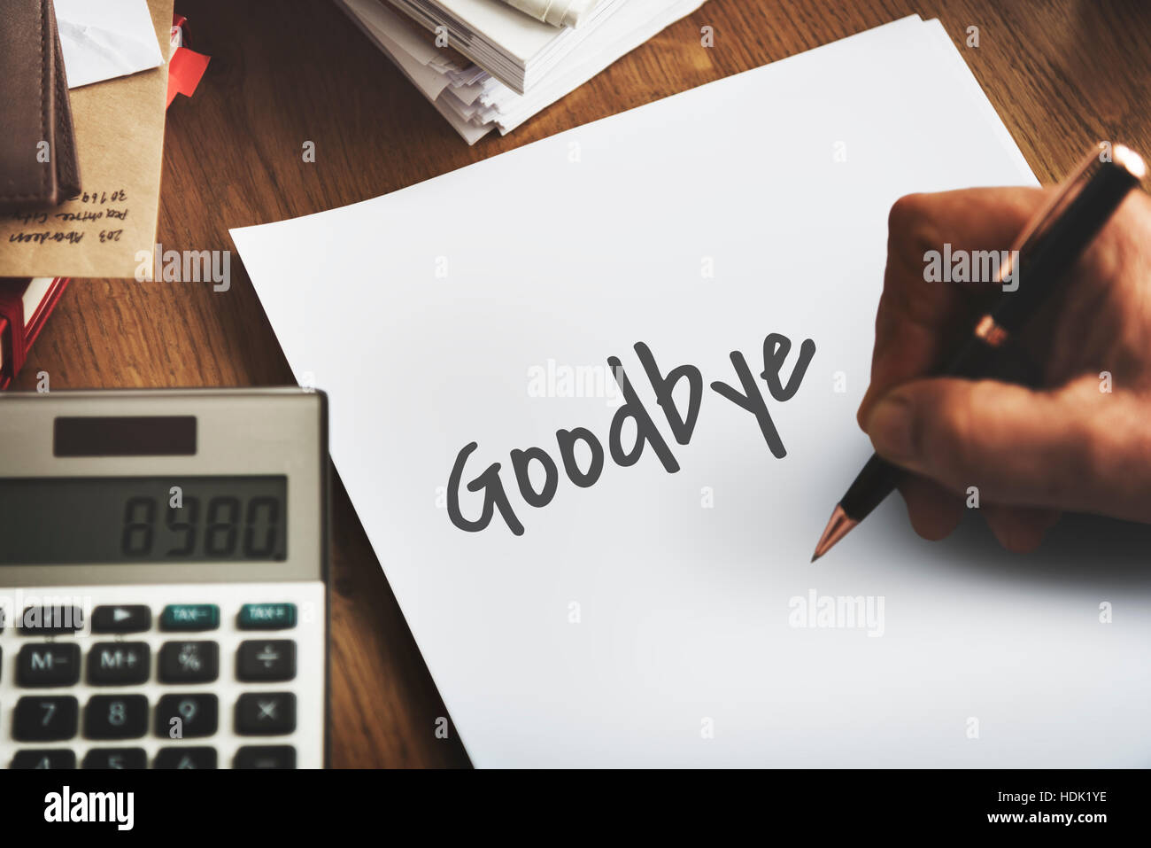 Goodbye Farewell Phrase Saying Leave Later Concept - Stock Image