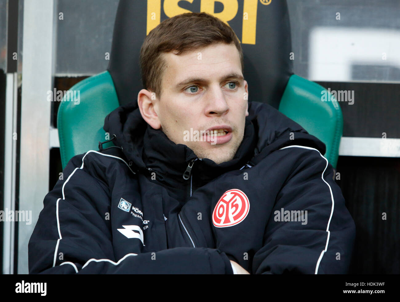 sports, football, Bundesliga, 2016/2017, Borussia Moenchengladbach vs 1. FSV Mainz 05 1:0, Stadium Borussia Park, - Stock Image