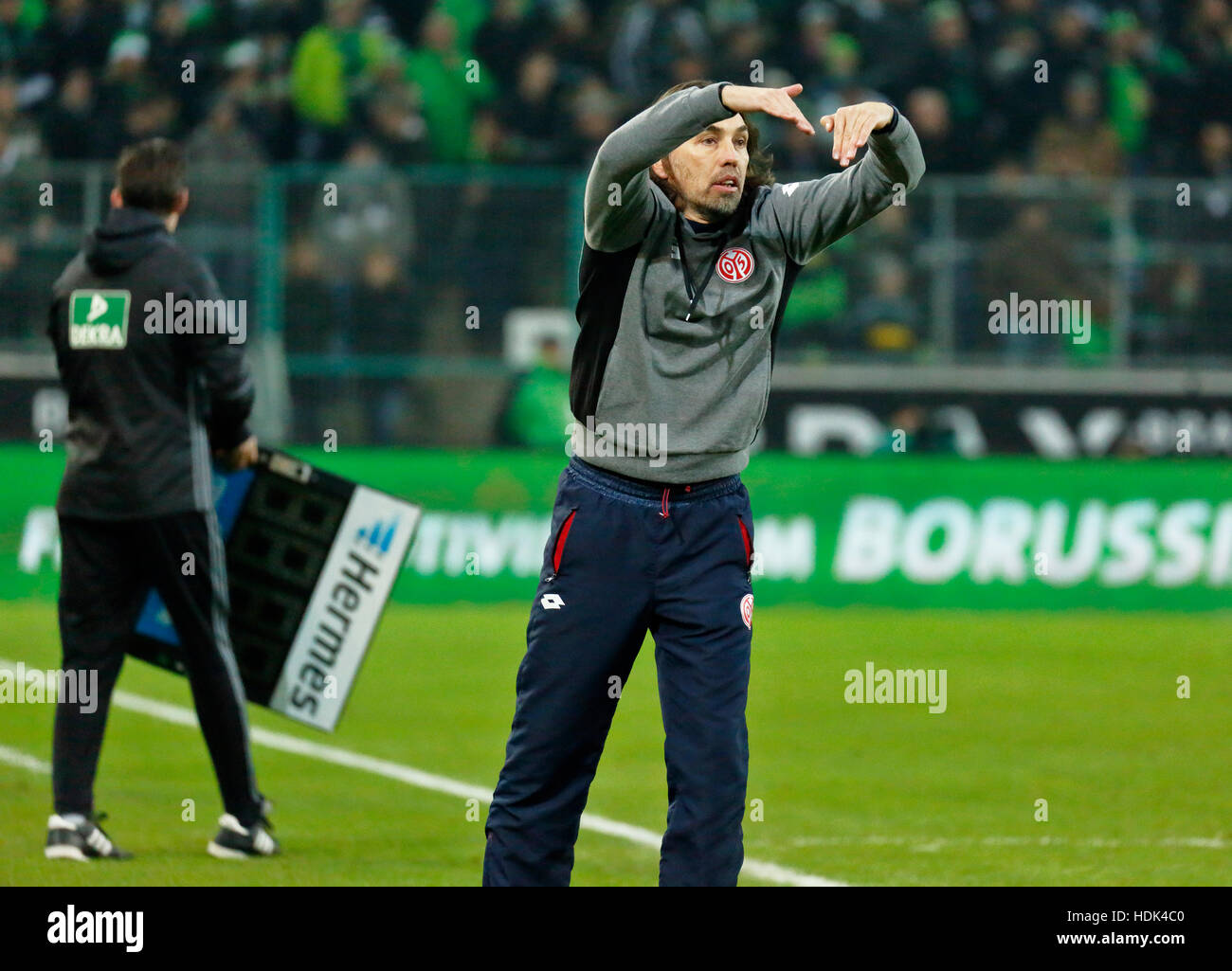 sports, football, Bundesliga, 2016/2017, Borussia Moenchengladbach vs 1. FSV Mainz 05 1:0, Stadium Borussia Park, - Stock Image