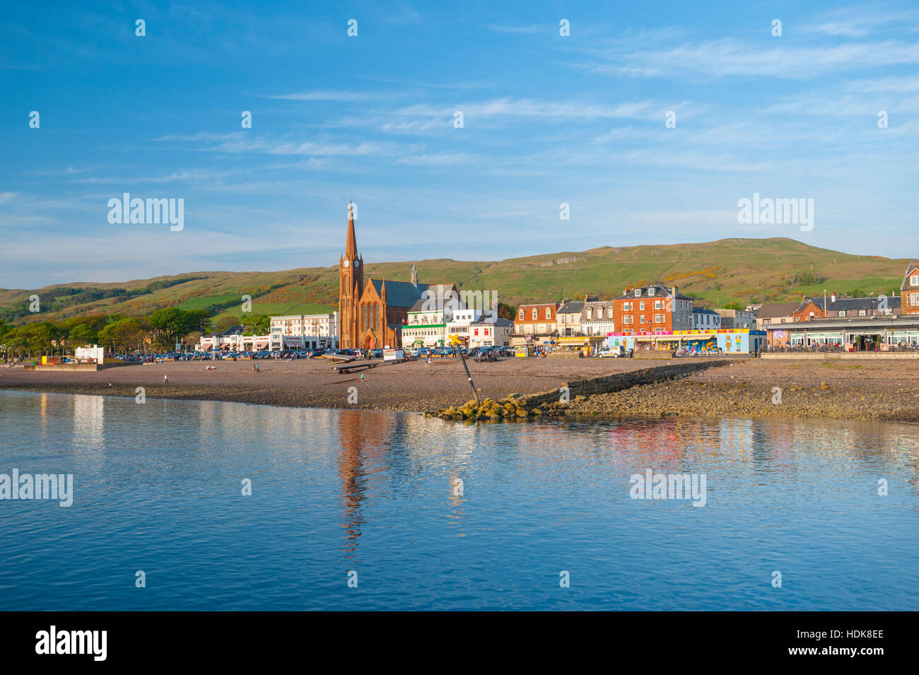 Largs on the Clyde coast Ayrshire. - Stock Image