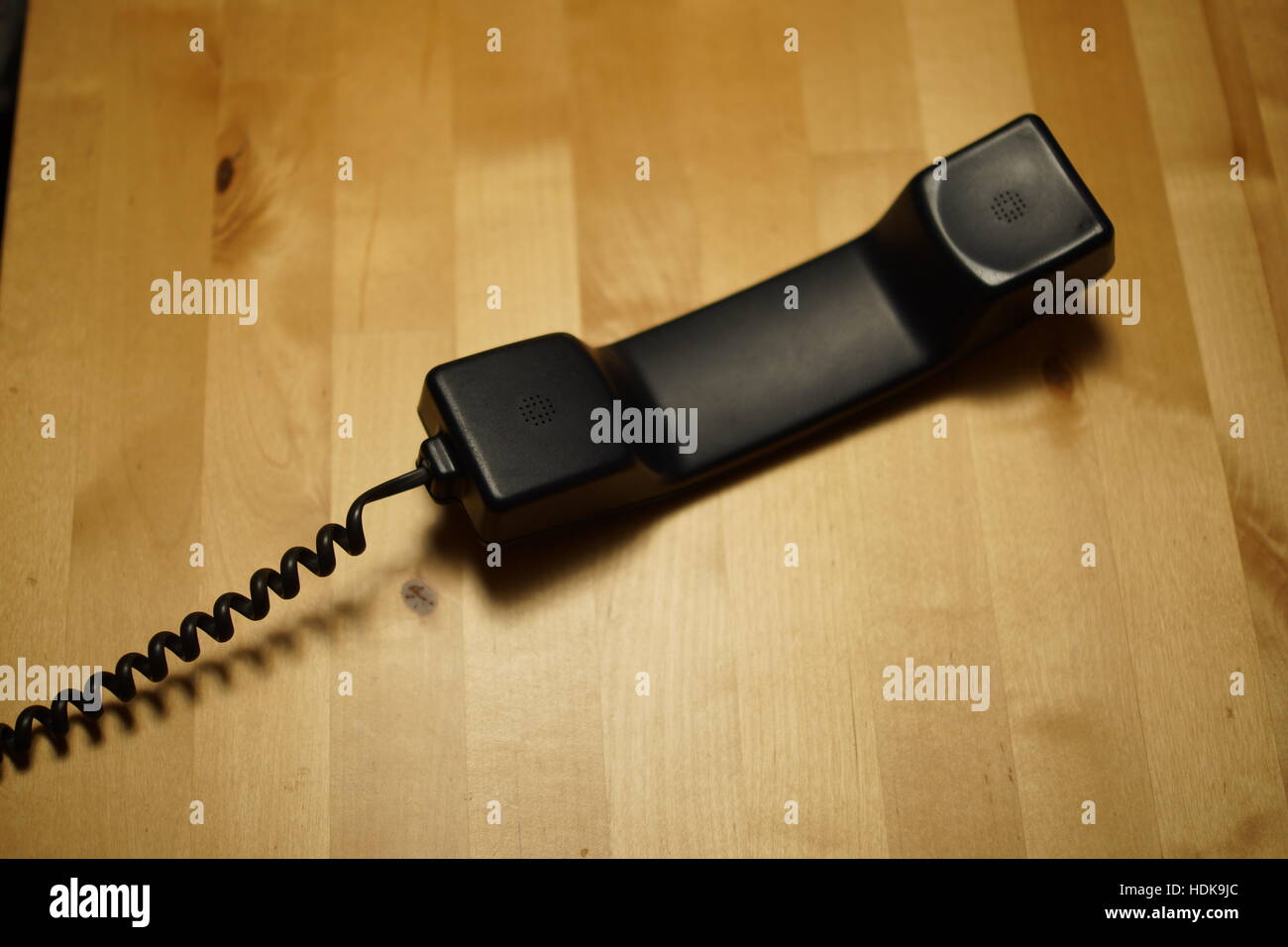 Black vintage telephone - Stock Image