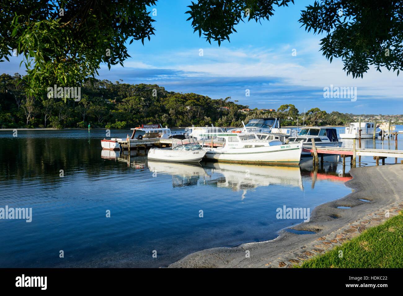 View of the Marina, Lakes Entrance, Victoria, VIC, Australia Stock