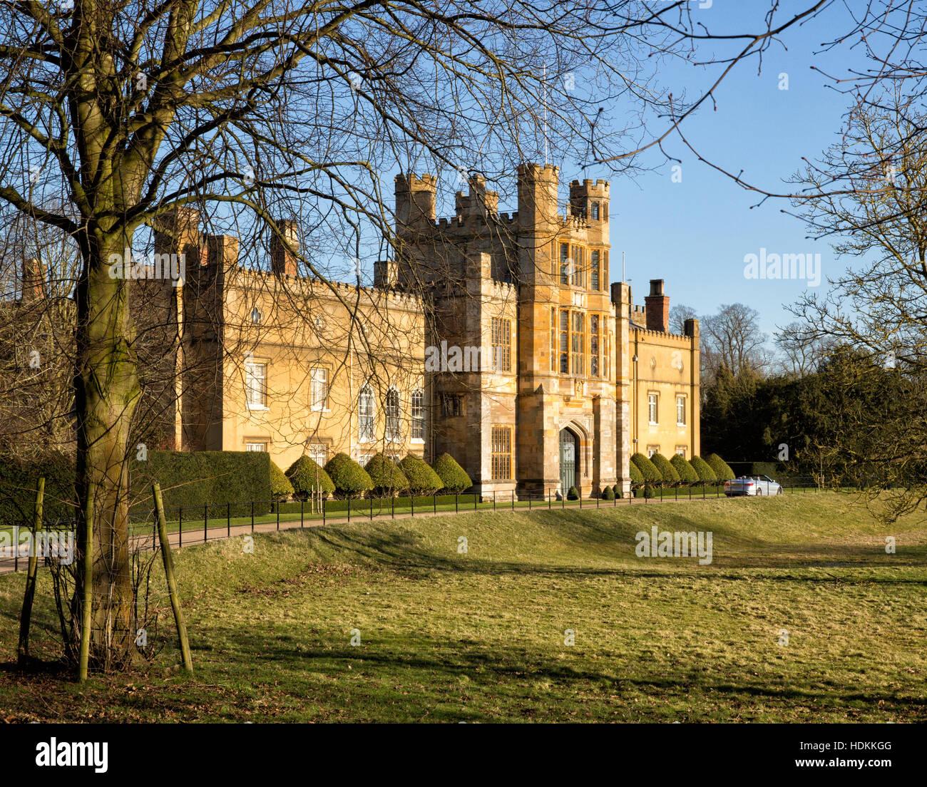 Coughton Court - Tudor home of the Throckmorton family in Warwickshire UK - Stock Image
