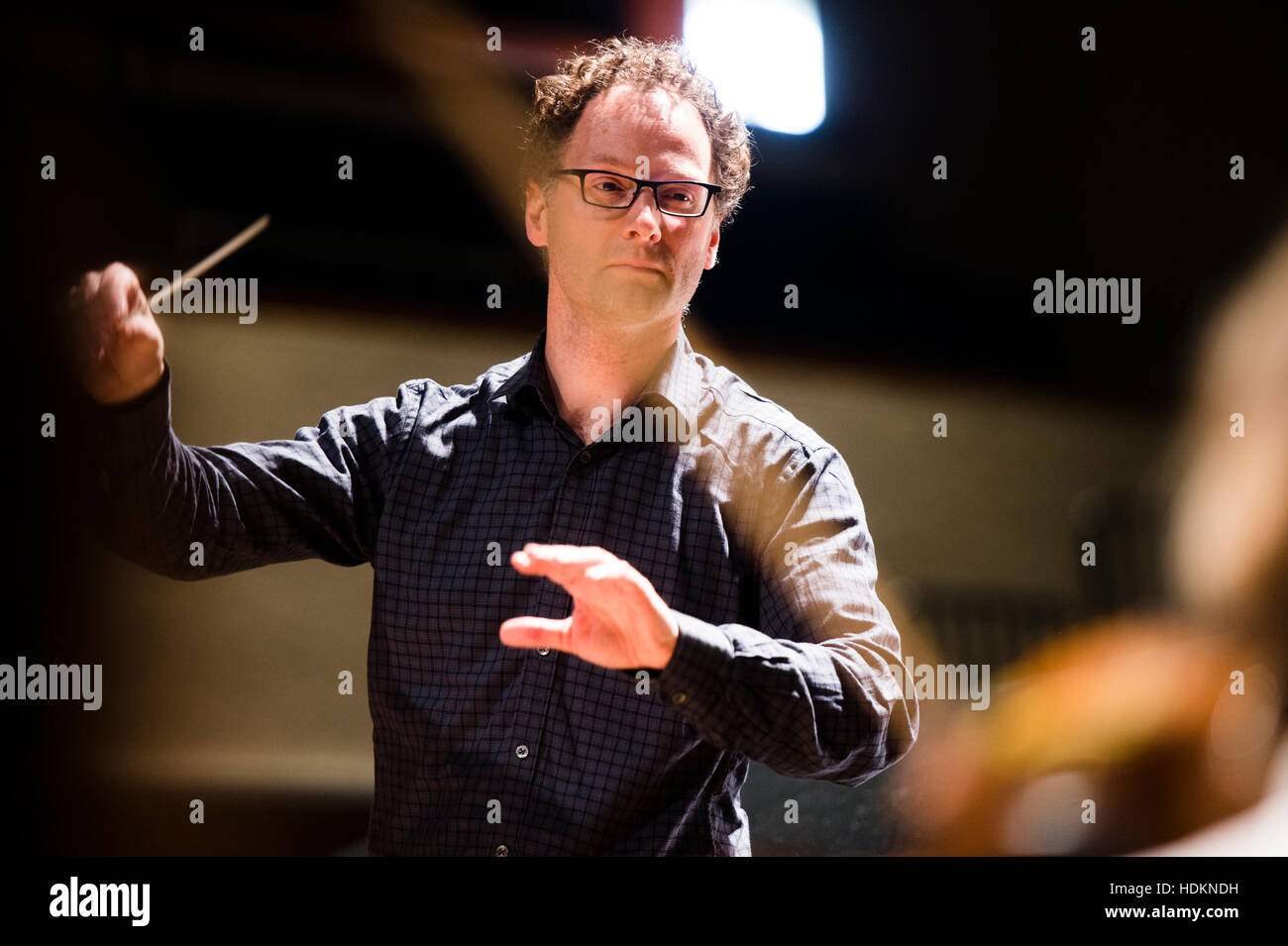 Toby Purser (conductor) at MusicFest Aberystwyth, Wales UK July 2016 - Stock Image