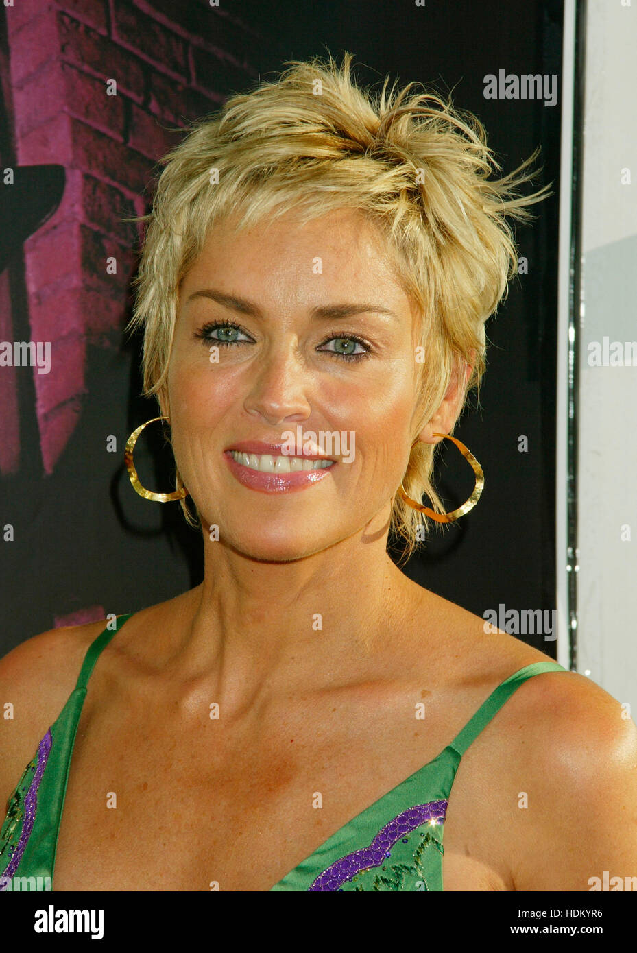 Actress Sharon Stone At The Premiere For The Film Catwoman In Los