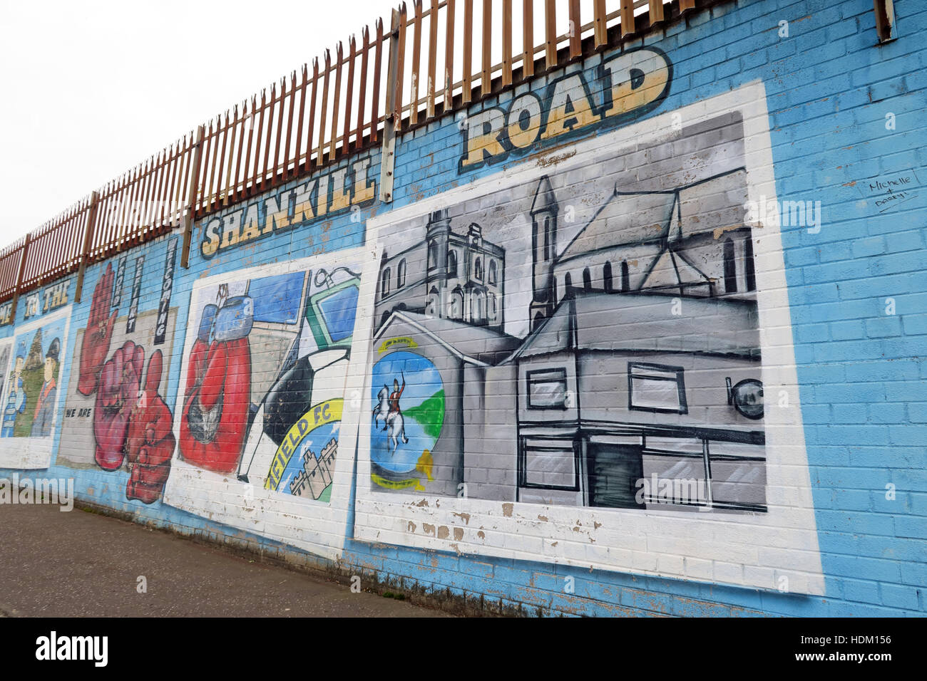 Shankill Road, Belfast International Peace Wall,Cupar way,West Belfast,NI,UK - Stock Image