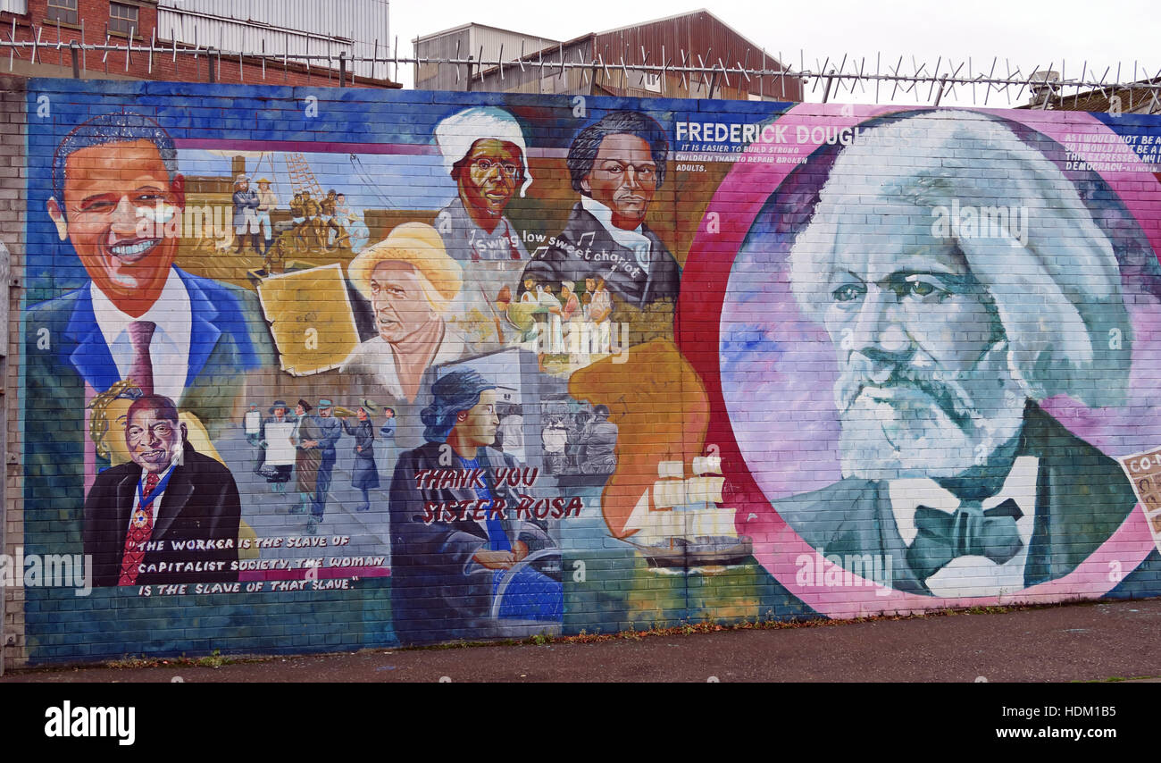 Belfast Falls Rd Rebublican Mural Stock Photo