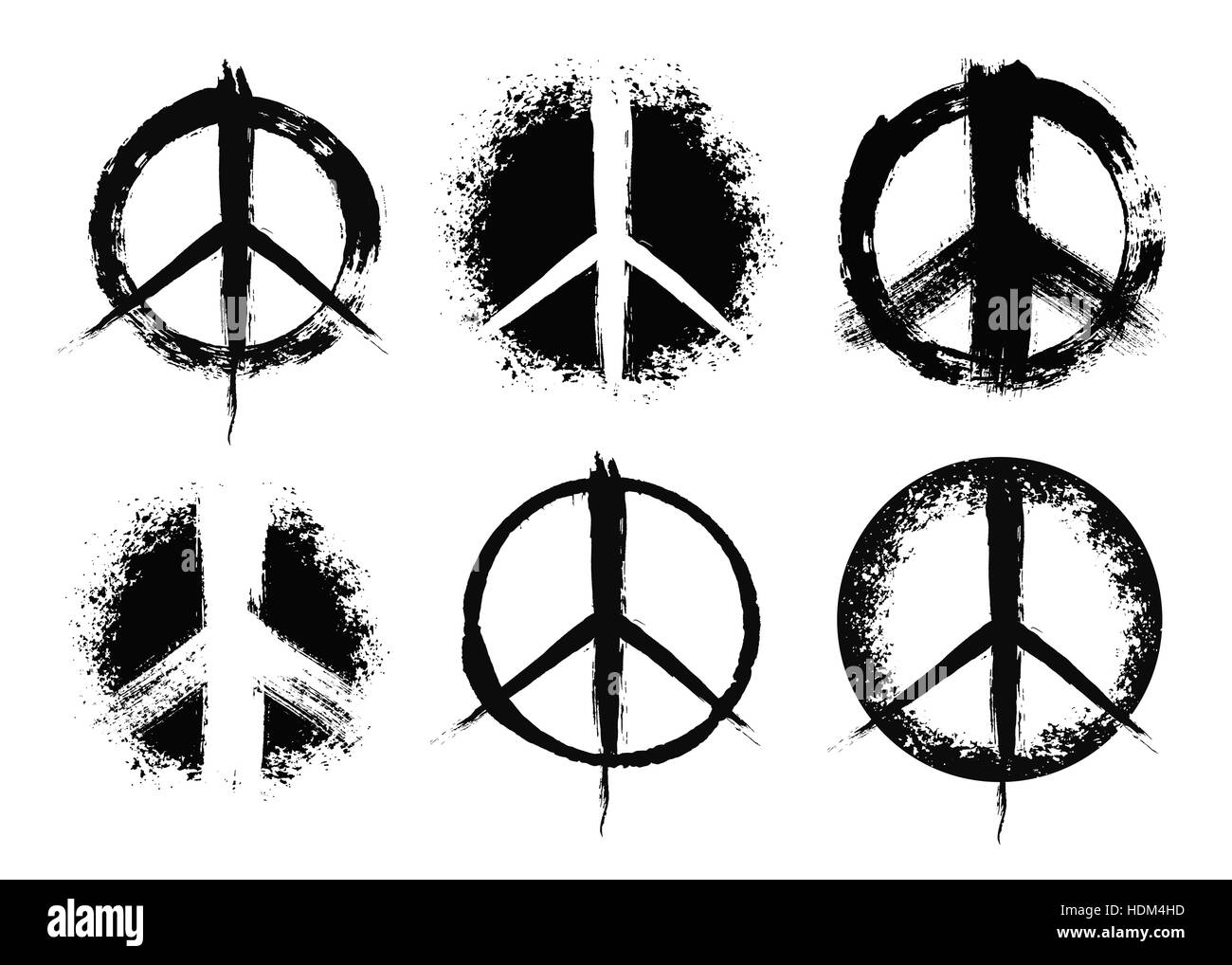 Painted Peace Sign Black And White Stock Photos Images Alamy