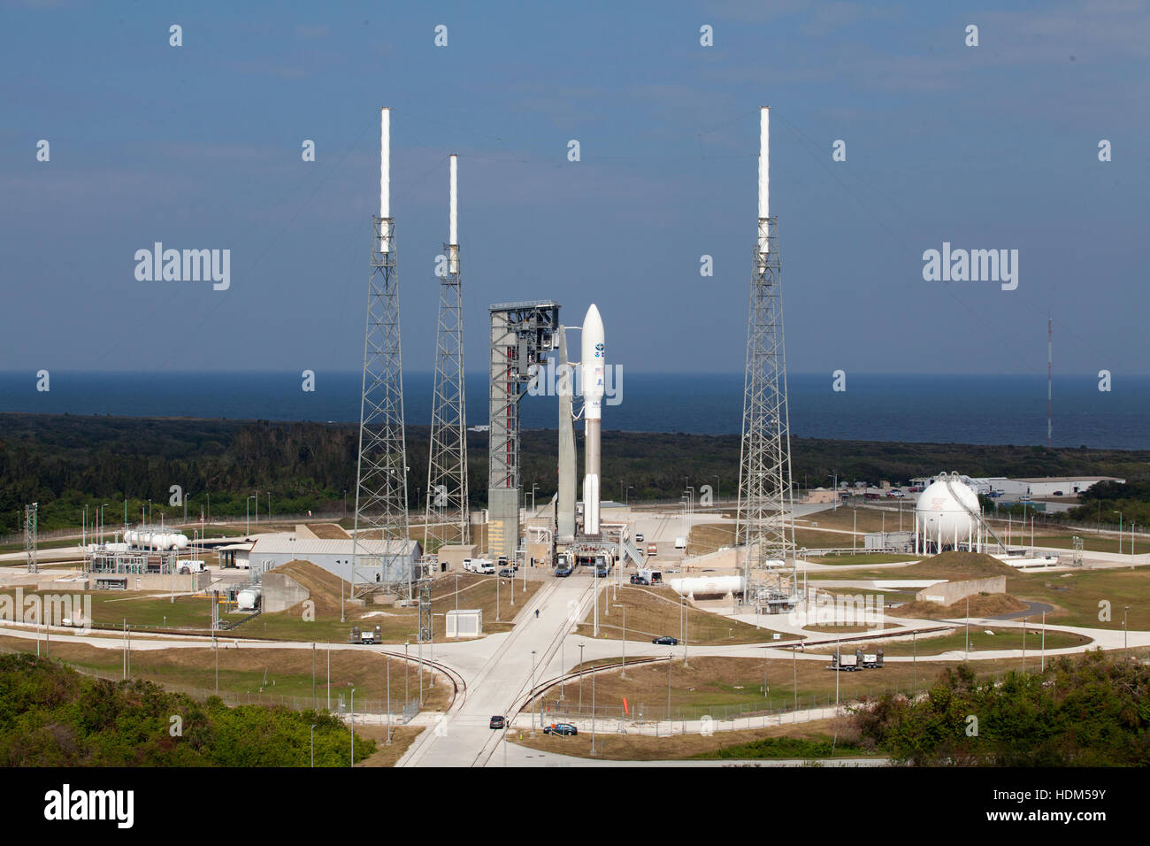 The United Launch Alliance Atlas V rocket with the NASA Geostationary Operational Environmental Satellite (GOES - Stock Image