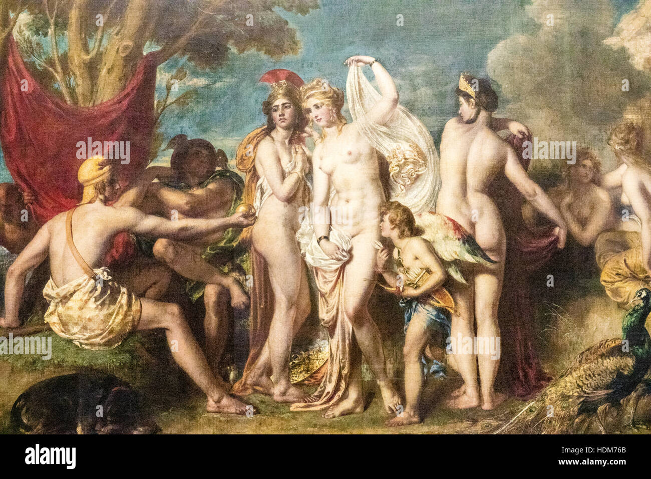 The Judgement of Paris, Lady Lever Art Gallery, Port Sunlight Museum,  Wirral, Merseyside. England - Stock Image