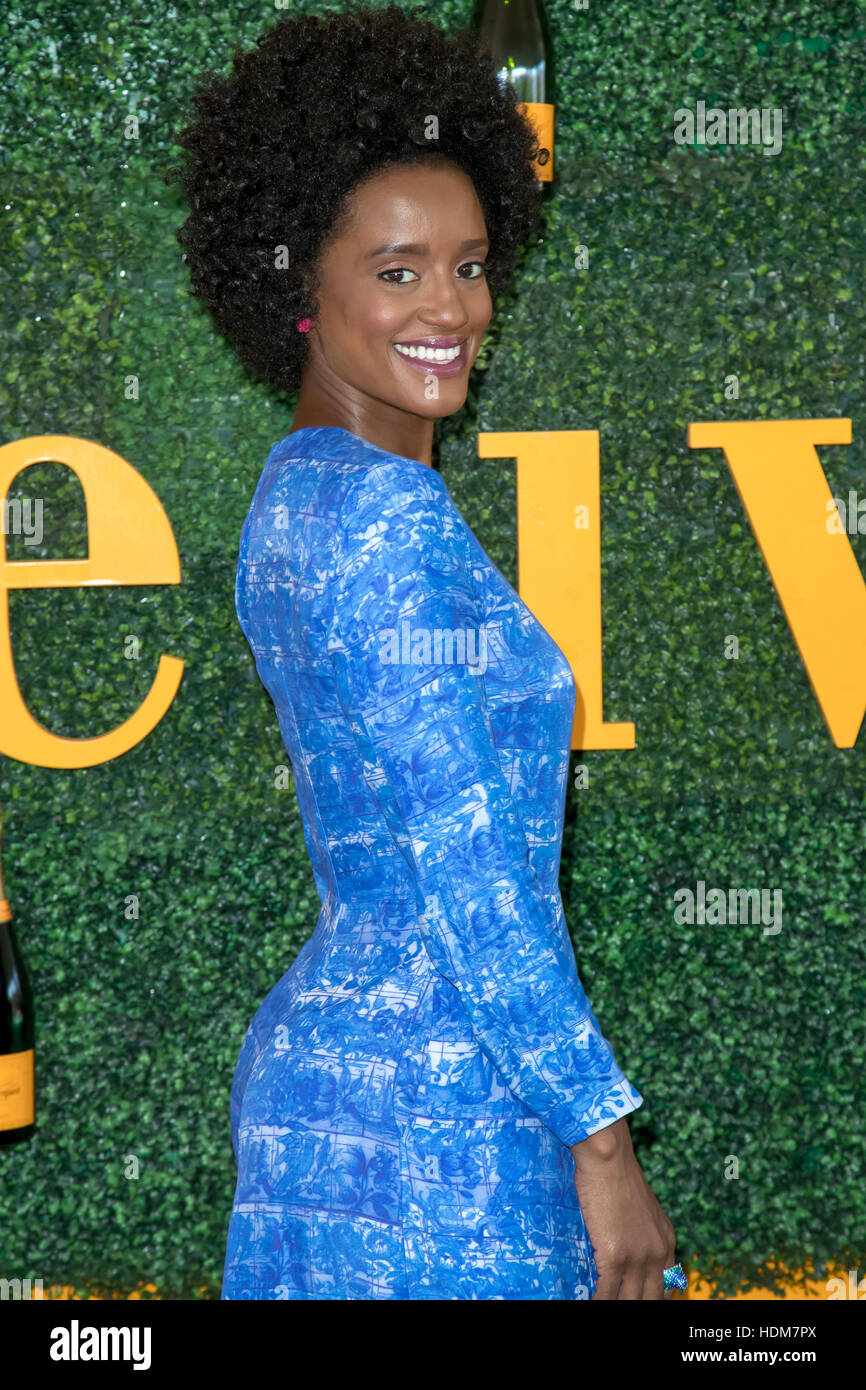 7th Annual Veuve Clicquot Polo Classic  Featuring: Skye P. Marshall Where: Pacific Palisades, California, United - Stock Image