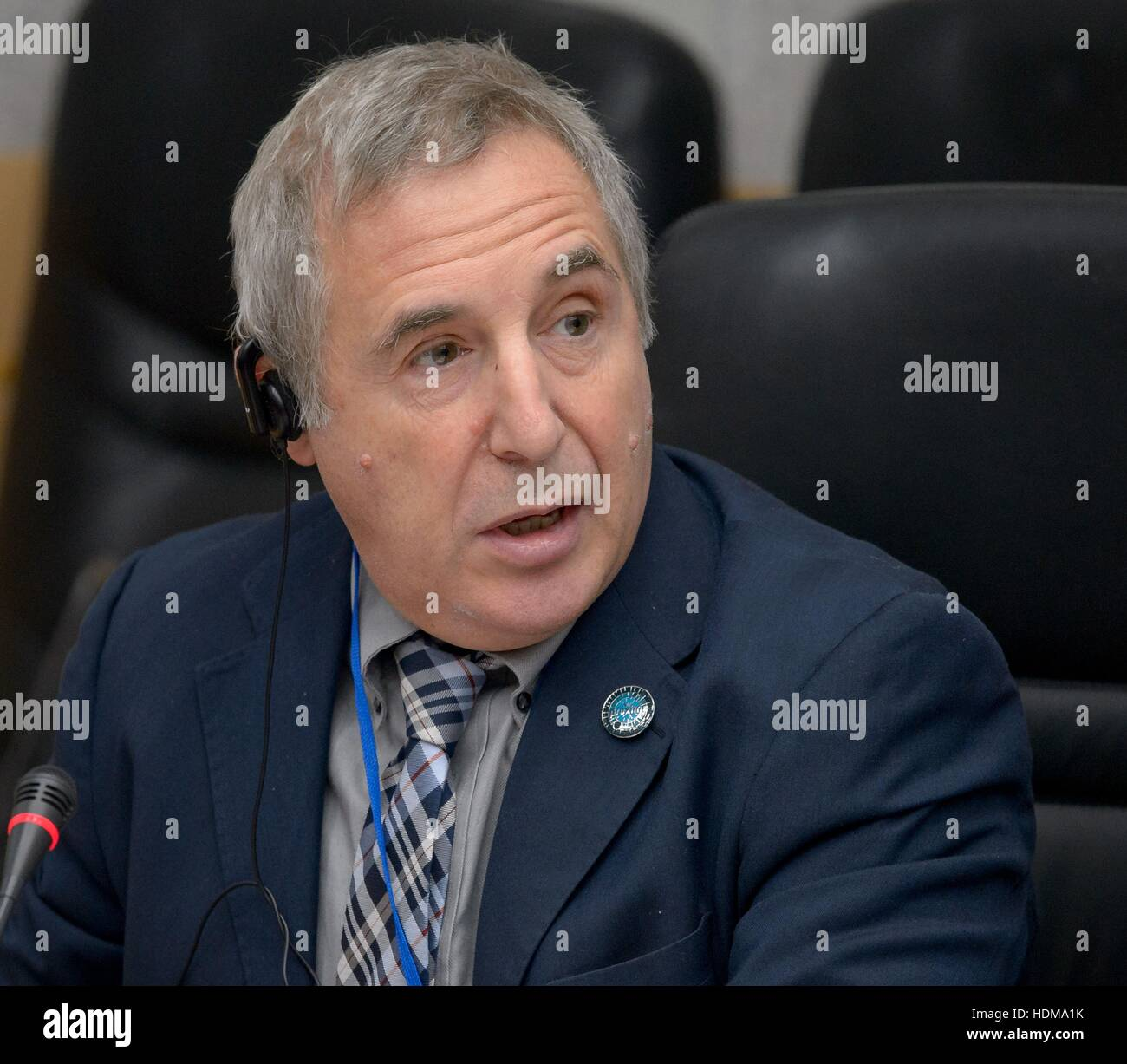 European Space Agency International Space Station Program Manager Bernardo Patti speaks during the State Commission - Stock Image