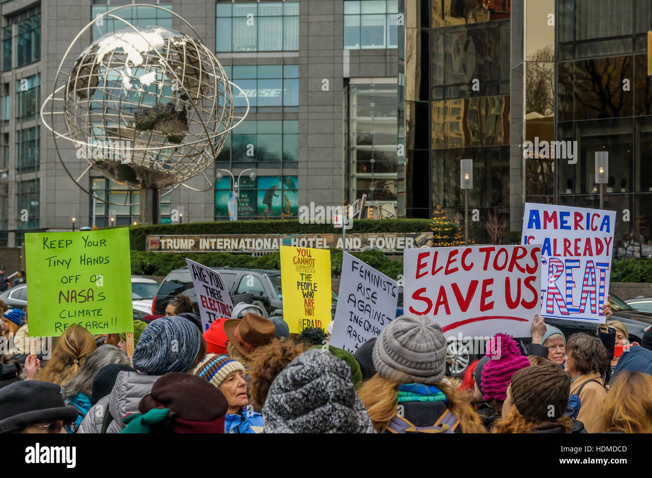 New York, USA. 12th Dec, 2016. Women and Allies, Nationwide Protest in New York City - On the 12th of December, - Stock Image