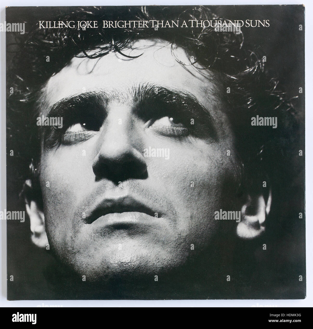 """The cover of """"Brighter Than A Thousand Suns"""", 1986 album by Killing Joke on EG - Editorial use only Stock Photo"""