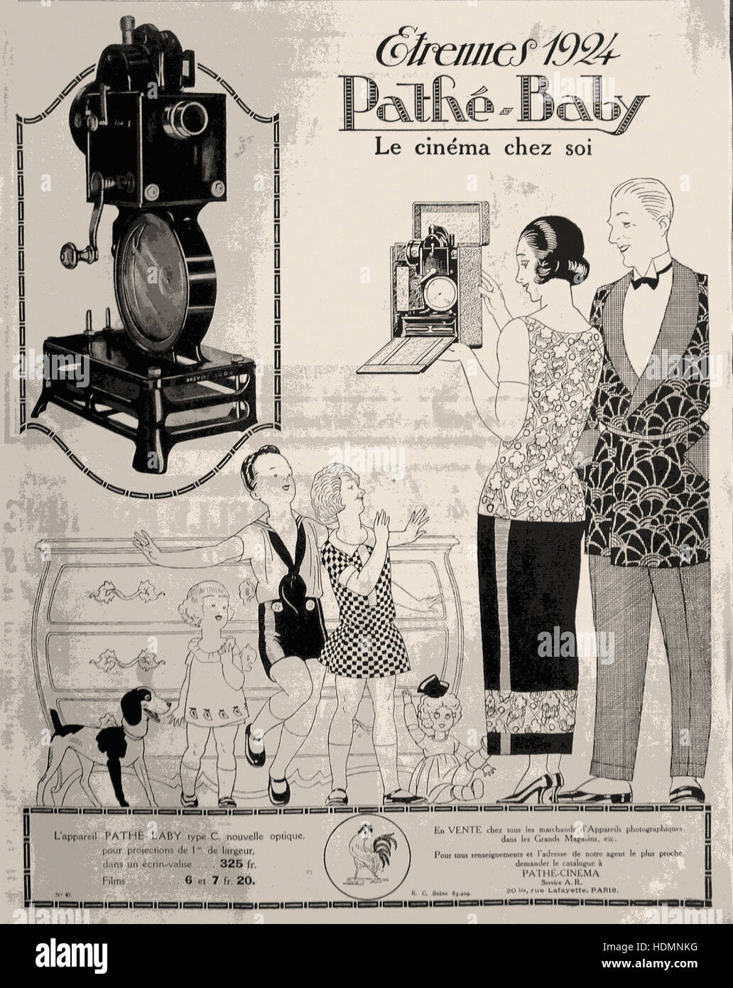 Projecteur Pathé Baby-1923 - Advertising - Stock Image