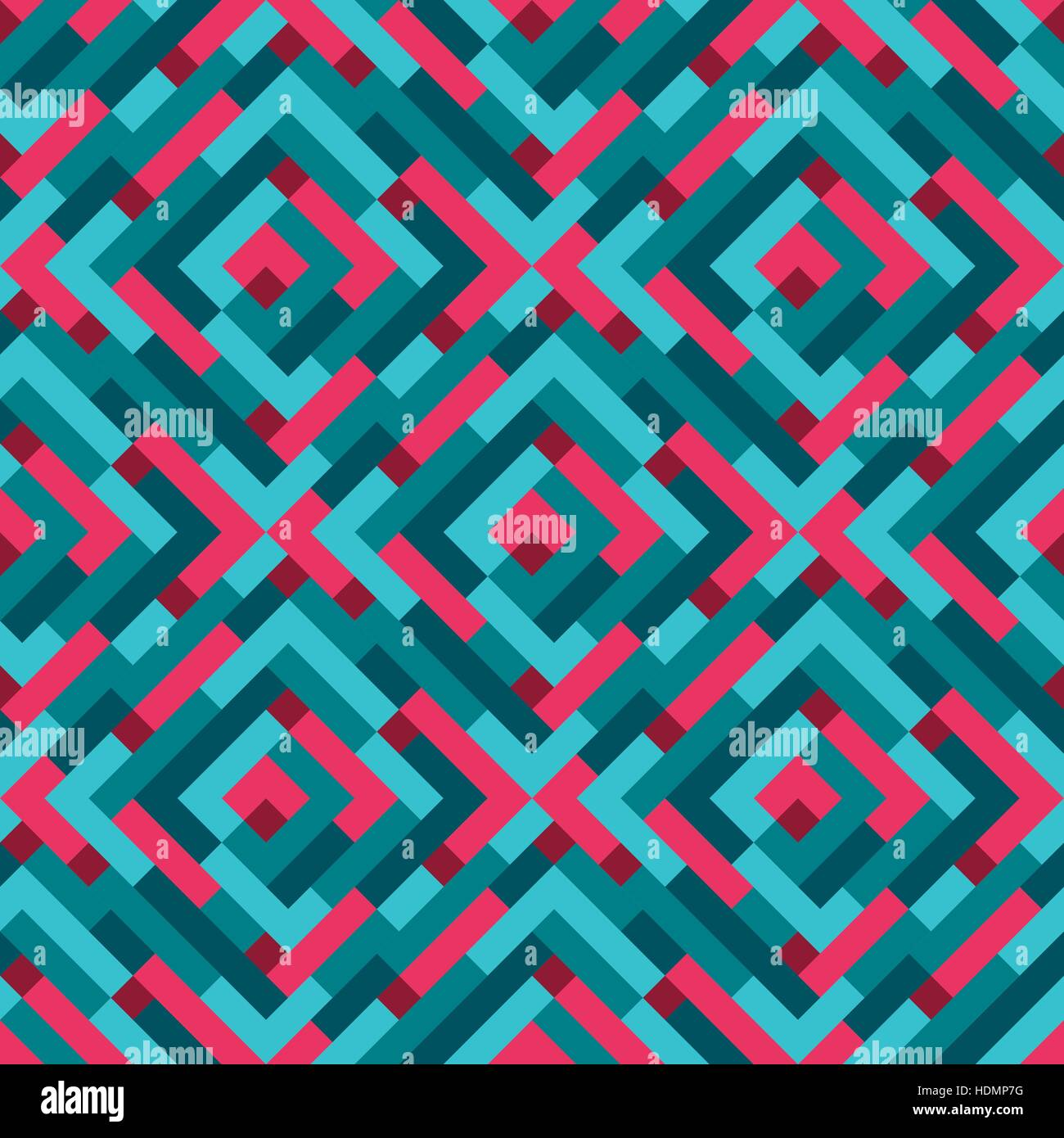Seamless Modern Flat Pattern Lines And Dots Colorful Background Or Wallpaper Vector Illustration