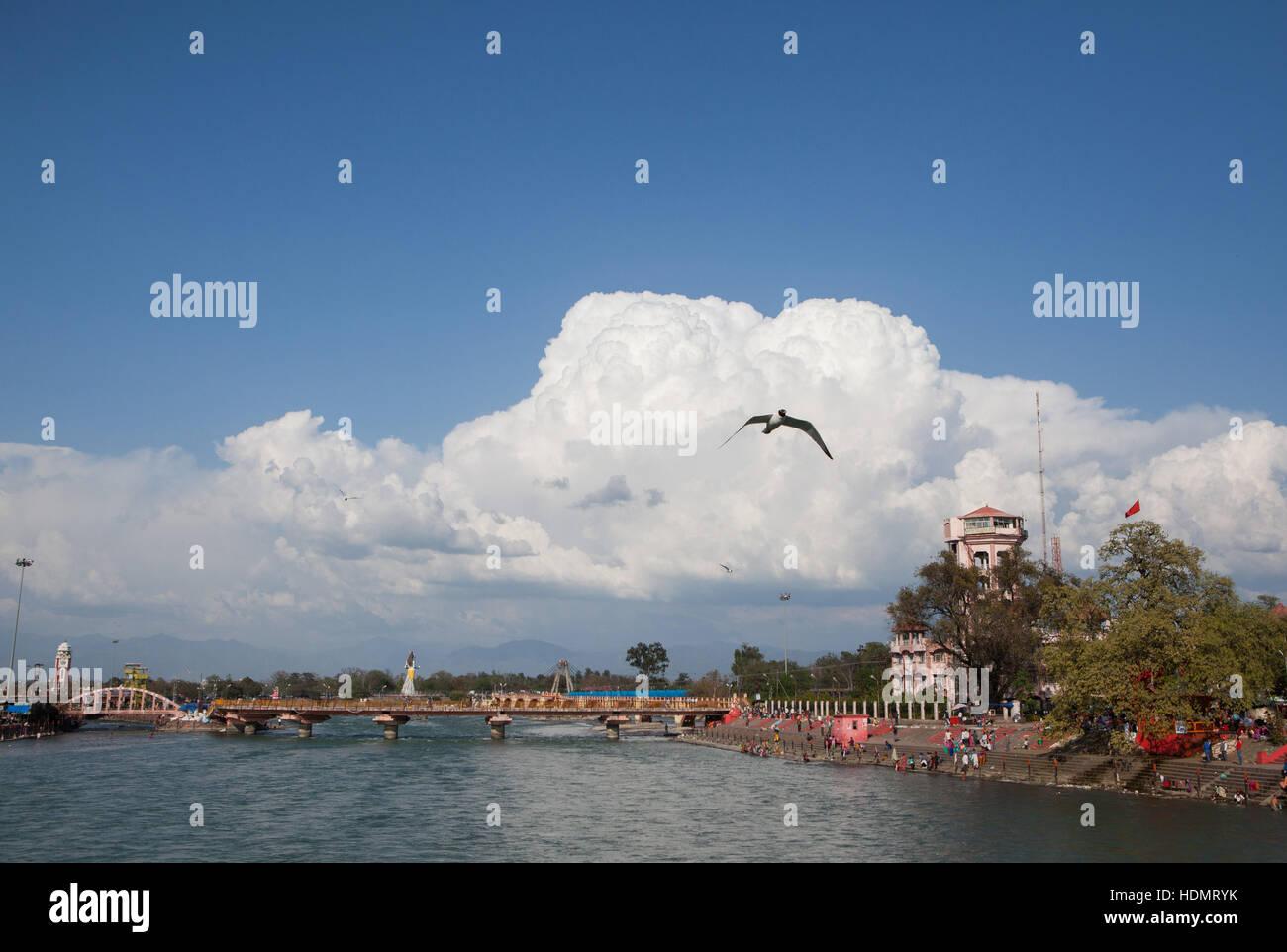 Ganges river in Haridwar, India   © Juergen Hasenkopf - Stock Image