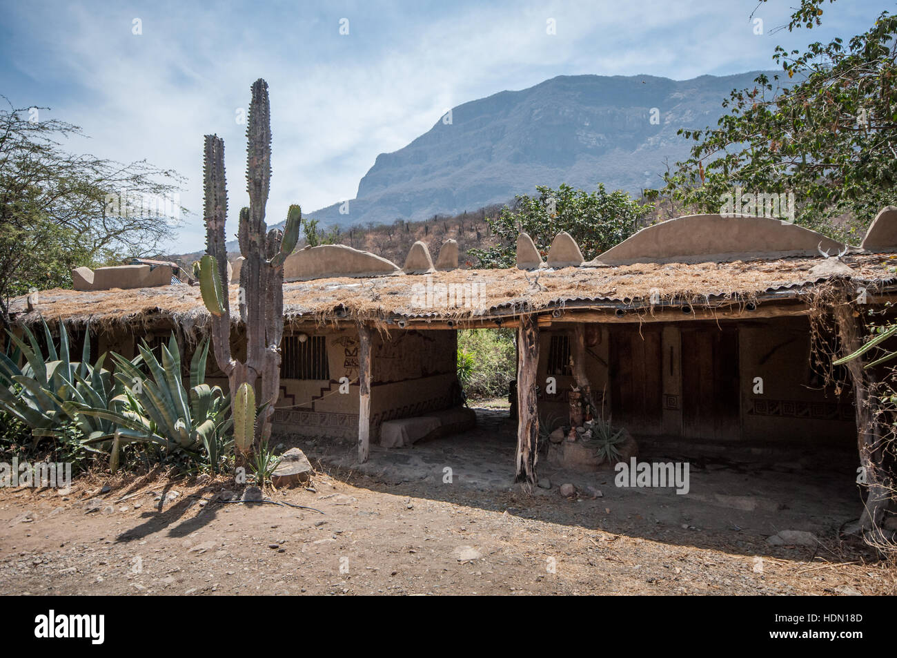 Entrance to the Chaparri Reserve (Private Area of Conservation) in Lambayeque in northern Peru Stock Photo