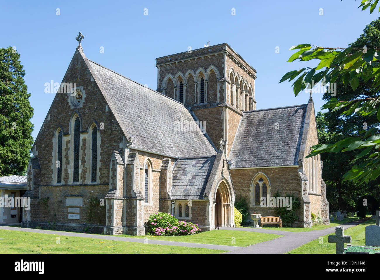 Holy Trinity Church Lyne & Longcross, Lyne lane, Lyne, Surrey, England, United Kingdom - Stock Image