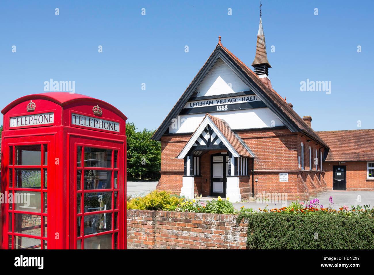 Chobham Village Hall, Station Road, Chobham, Surrey, England, United Kingdom - Stock Image