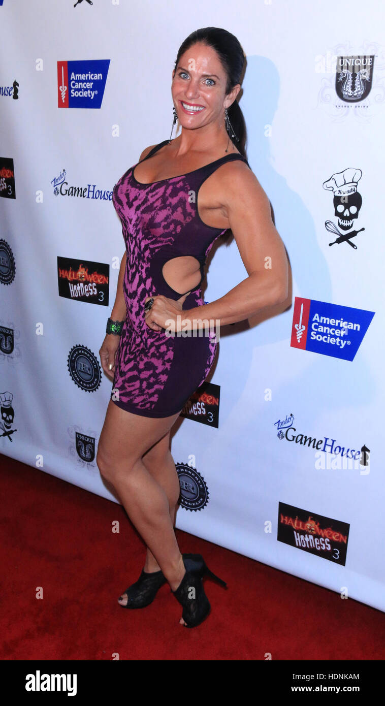 Halloween Hotness 3 in 3D: Heroes and Villains - Arrivals  Featuring: Traci Lynn Cowan Where: Los Angeles, California, United States When: 15 Oct 2016 Stock Photo