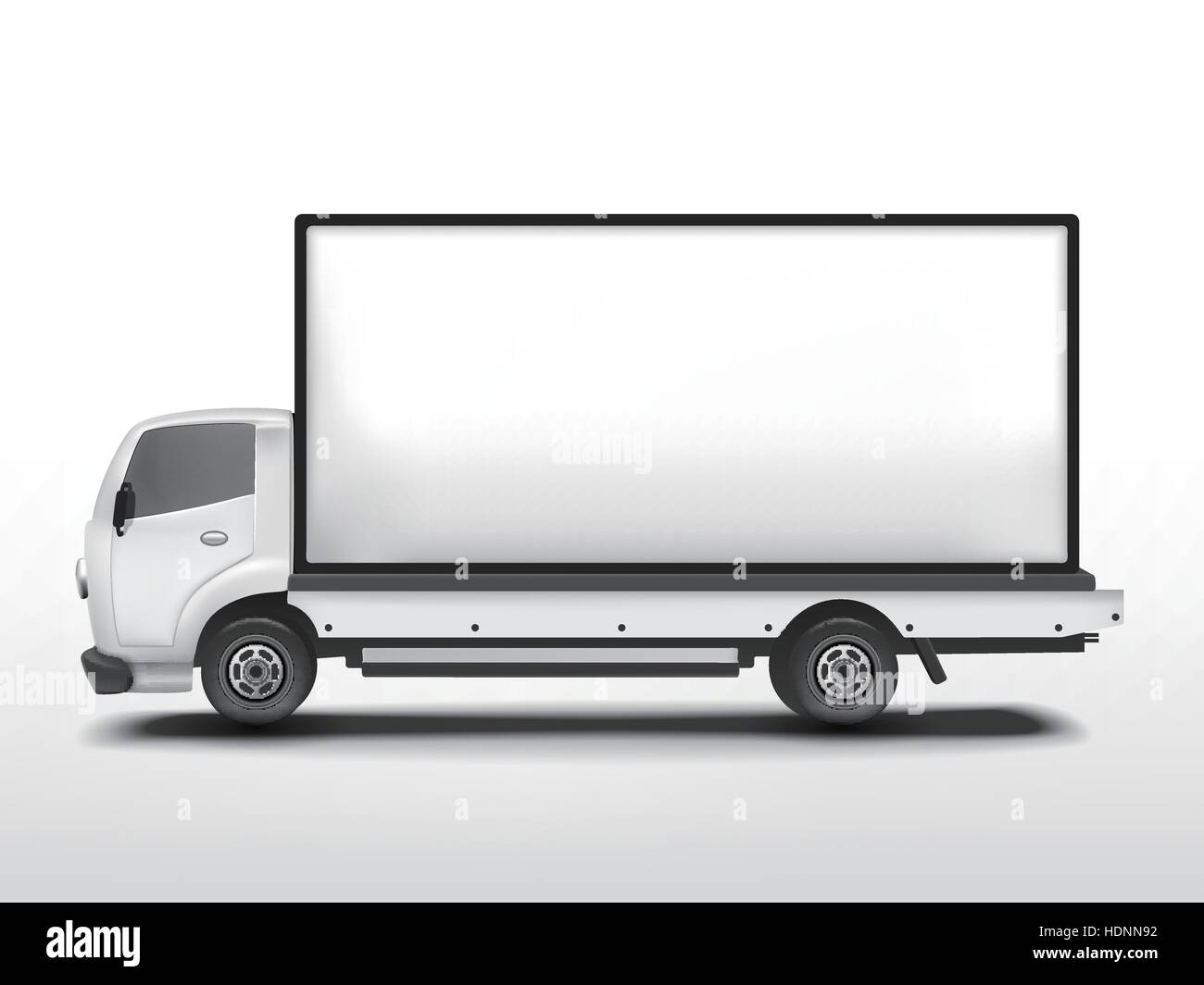Vector 3d Blank Mobile Billboard Template Isolated On White Stock
